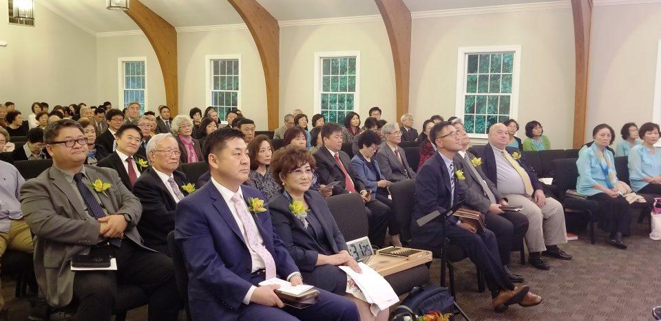 박상준 목사안수식에 지역 목회자와 성도들이 참석해 축하와 기도로 함께했다.