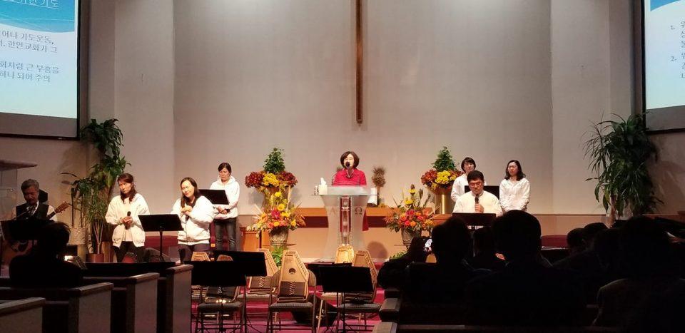 워싱턴지역교회의 부흥과 연합을 위한 기도 -김영천 권사